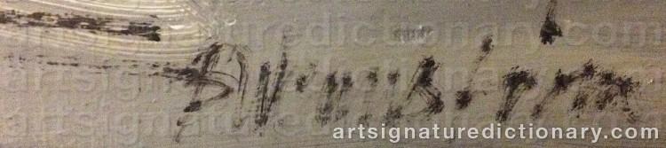Signature by Berndt WENNSTRÖM