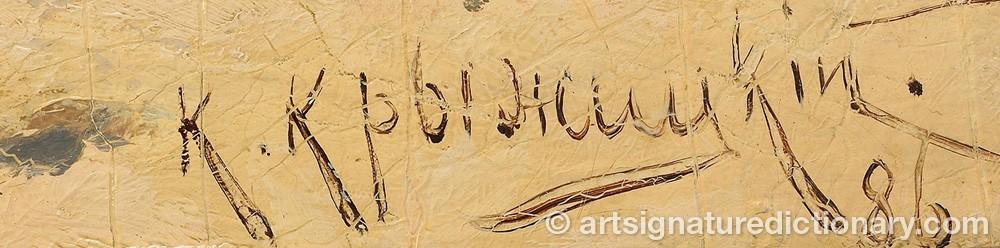 Signature by Konstantin Yakovlevich KRYZHITSKY