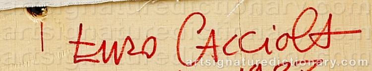 Signature by Enzo CACCIOLA