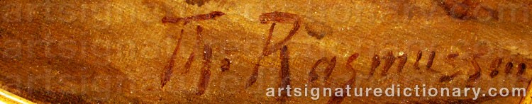 Signature by Thorvald RASMUSSEN