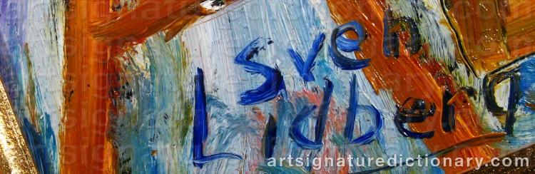 Signature by Sven LIDBERG