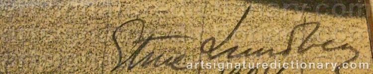 Signature by Sture LUNDBERG