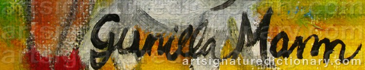 Signature by Gunilla MANN