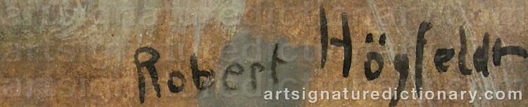 Signature by Robert HÖGFELDT