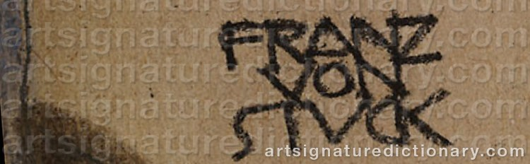 Signature by Franz Von STUCK