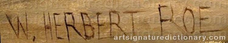 Signature by Walter Herbert ROE