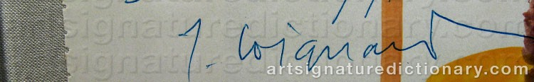 Signature by James COIGNARD