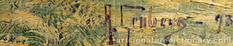 Signature by Anton GENBERG