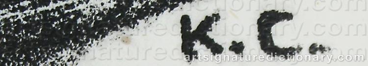 Signature by Konrad CRAMER