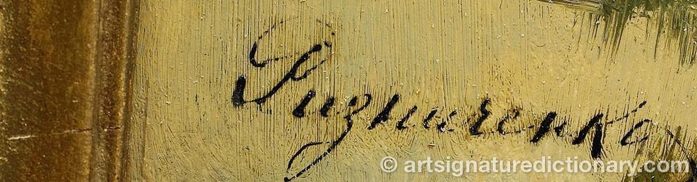 Signature by Feodor Petrovich RIZNICHENKO