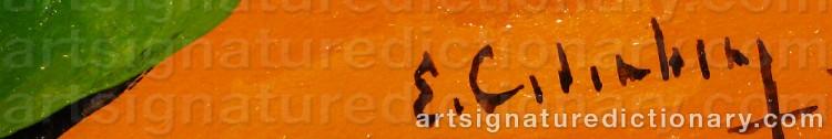 Signature by Eric CEDERBERG