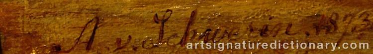 Signature by Amalia Ulrika Sofia Von 'Amelie' SCHWERIN