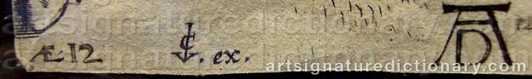 Signature by Cornelis De VISSCHER