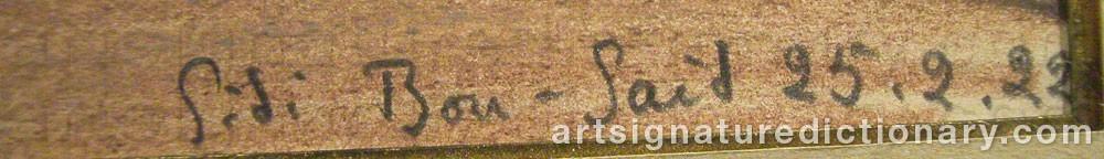 Signature by Sidi BOU-SAID