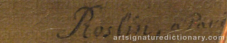 Signature by Alexander ROSLIN