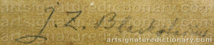 Signature by Johan Zacharias BLACKSTADIUS