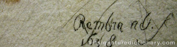 Forged signature of Rembrandt Harmenszoon Van RIJN