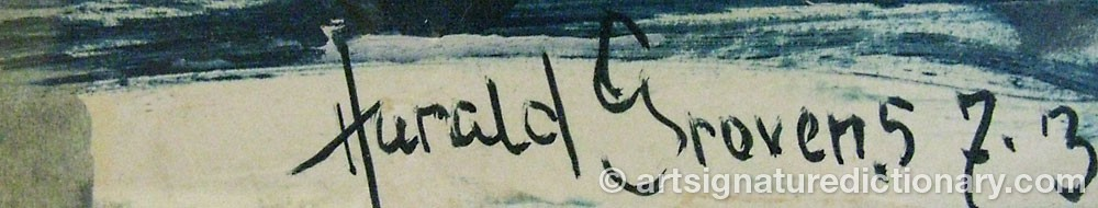 Signature by Harald GROVENS