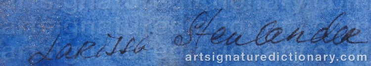 Signature by Larissa STENLANDER