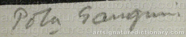Signature by Paul Rollon 'Pola' GAUGUIN