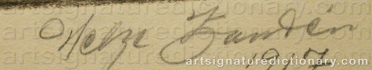 Signature by Helge ZANDÉN
