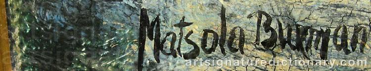 Signature by Matsola BURMAN