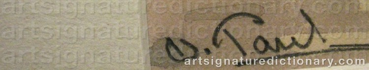 Signature by Oscar PAUL