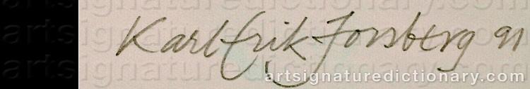 Signature by Karl-Erik FORSBERG