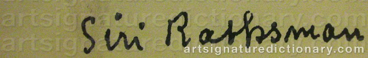 Signature by Siri RATHSMAN