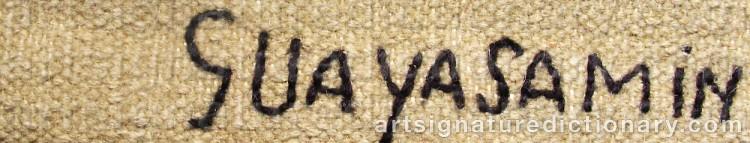 Signature by Oswaldo GUAYASAMIN