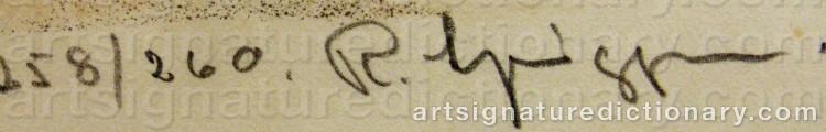 Signature by Reinhold LJUNGGREN