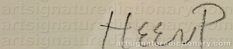 Signature by Henry HEERUP