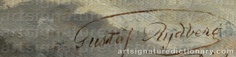 Signature by Gustaf RYDBERG