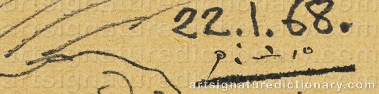 Signature by Pablo PICASSO