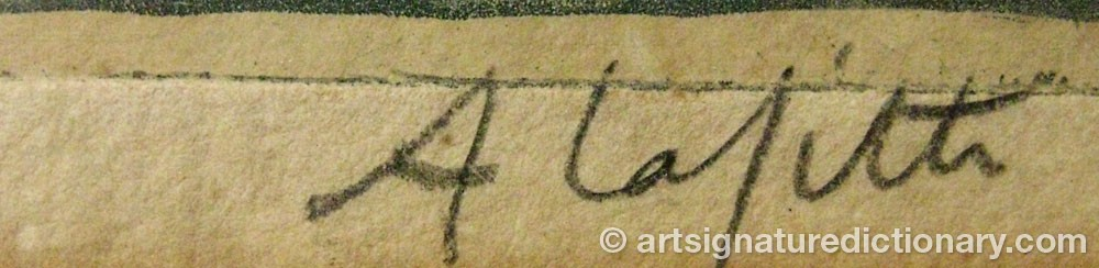 Signature by Alphonse LAFITTE