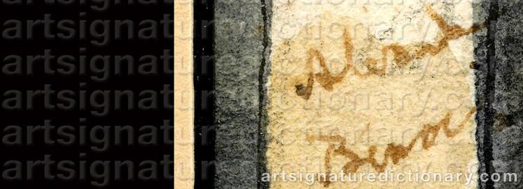 Signature by Alexander Nikolaievich BENOIS