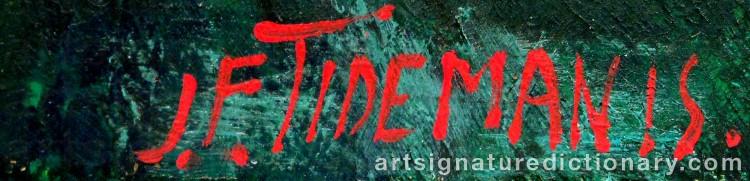 Forged signature of Janis Ferdinands TIDEMANIS