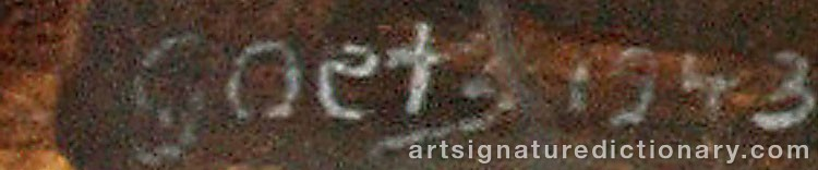 Signature by Henri GOETZ