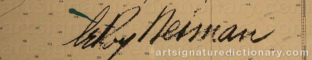Signature by Leroy NIEMAN