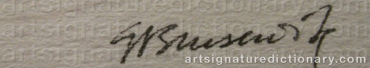 Signature by Gunnar BRUSEWITZ