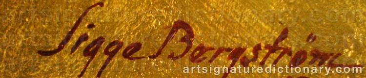 Signature by Sigge BERGSTRÖM