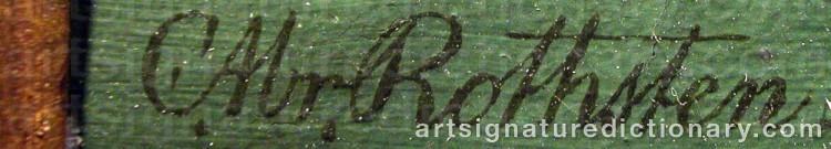 Signature by Carl Abraham ROTHSTÉN