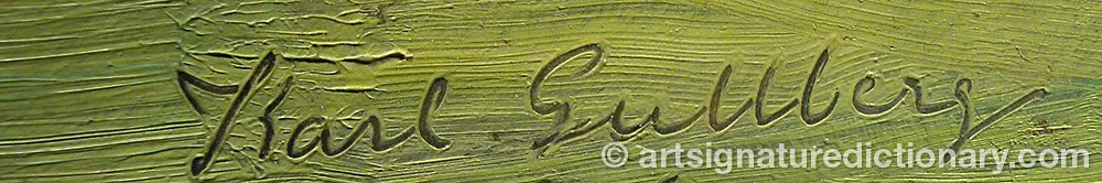 Signature by Karl GULLBERG