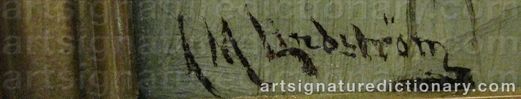 Signature by Arvid Mauritz LINDSTRÖM