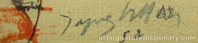 Forged signature of Jacques VILLON