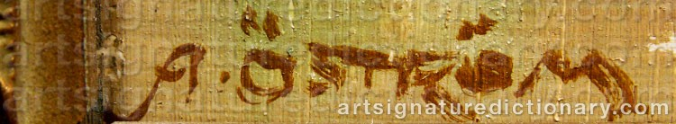 Signature by Arvid ÖSTRÖM
