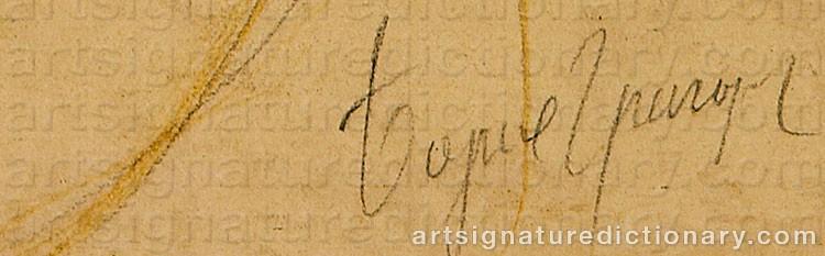 Signature by Boris Dimitrevich GRIGORIEV