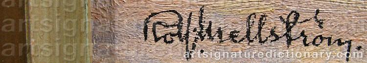 Signature by Rolf MELLSTRÖM