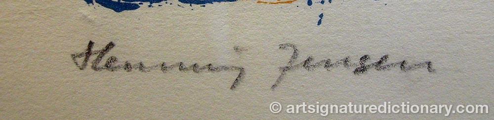 Signature by Henning JENSEN