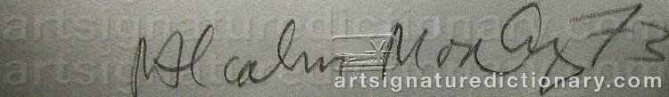 Signature by Malcolm MORLEY